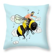 Flight Of The Bumblebee By Nicolai Rimsky Korsakov Throw Pillow