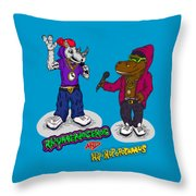 Flight Of The Conchords The Hiphopopotamus And The Rhymenoceros Together On The One Design Throw Pillow
