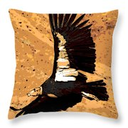 Flight Of The Condor Throw Pillow by George Pedro
