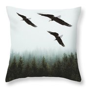 Flight Of The Eagles Throw Pillow