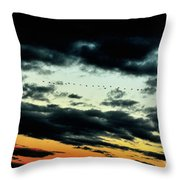 Flight Of The Geese Throw Pillow