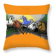 Flight Of The Horses Throw Pillow