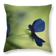 Flight Of The Lobelia  Throw Pillow