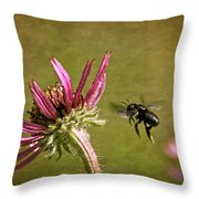 Flight Of The Mason Bee Throw Pillow