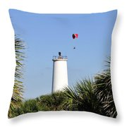 Flight Over Egmont Key Throw Pillow