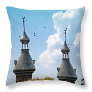 Flight Over The Crescents Throw Pillow