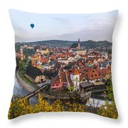 Flight Over The Medieval Town Throw Pillow by Dmytro Korol