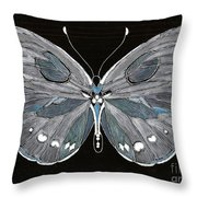 Flight Series 5 Silvery Moon Throw Pillow