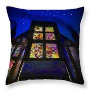 Flimflams Lanterns Diagon Alley London Throw Pillow