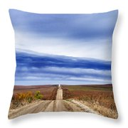 Flint Hills Rollers Throw Pillow