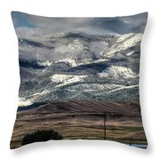 Flint Ridge Range, Deer Lodge, Mt Throw Pillow