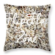Flip Flop Zone Seashell Background Throw Pillow