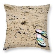 Flipflops Throw Pillow