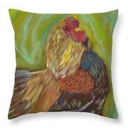 Flirty Hen Throw Pillow