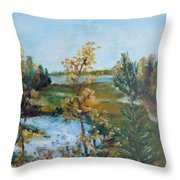 Fll At The Oyster River Throw Pillow
