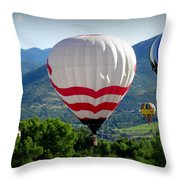 Floatin' In The Rockies 20 Throw Pillow