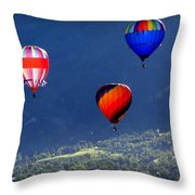 Floatin' In The Rockies 22 Throw Pillow