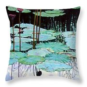 Floating - Reflective Beauty Throw Pillow