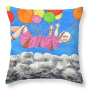 Floating Above Storm Clouds Throw Pillow