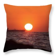 Floating Around The Sun Throw Pillow