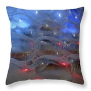 Floating Bubbles # 4 Throw Pillow