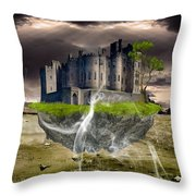 Floating Castle Throw Pillow