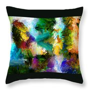 Floating Chair Throw Pillow