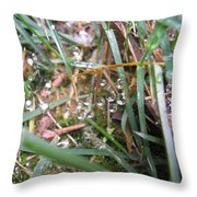 Floating Crystals Throw Pillow