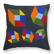 Floating Cubes 2 Throw Pillow