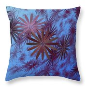Floating Floral - 001 Throw Pillow