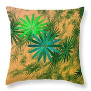 Floating Floral - 004 Throw Pillow