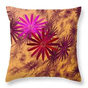 Floating Floral - 005 Throw Pillow