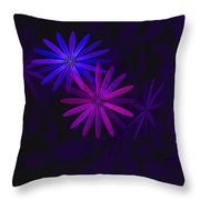 Floating Floral - 009 Throw Pillow