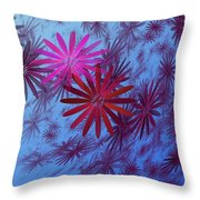 Floating Floral -003 Throw Pillow