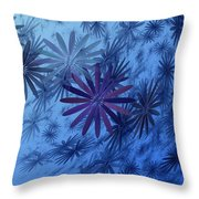 Floating Floral-010 Throw Pillow