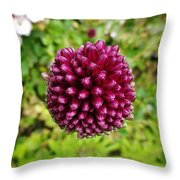 Floating Flower Buds Orb Throw Pillow