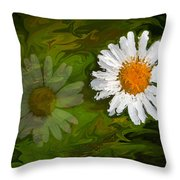 Floating Flower Reflection Throw Pillow