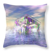 Floating Fractal Throw Pillow