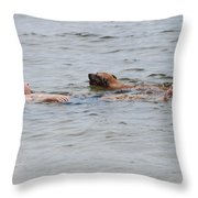 Floating In The Sea Throw Pillow