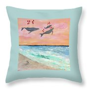 Floating Into The Sunset Throw Pillow