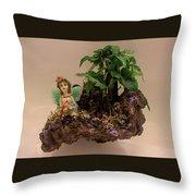 Floating Island Fairy Throw Pillow
