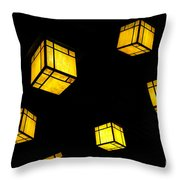 Floating Lanterns Throw Pillow