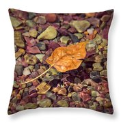 Floating Leaf Throw Pillow