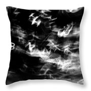 Floating Letters IIi Throw Pillow