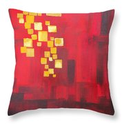 Floating Lights Throw Pillow