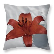Floating Lily Throw Pillow