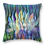 Floating Lotus - Celebrating You Throw Pillow