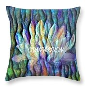 Floating Lotus - Compassion Throw Pillow