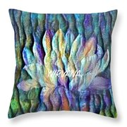Floating Lotus - Nirvana Throw Pillow