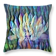 Floating Lotus - Peace In Our Lifetime Throw Pillow